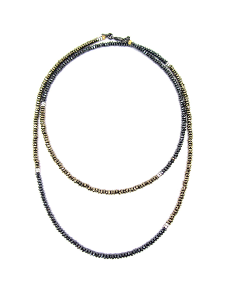 Gold & Gunmetal Hematite Dash Necklace