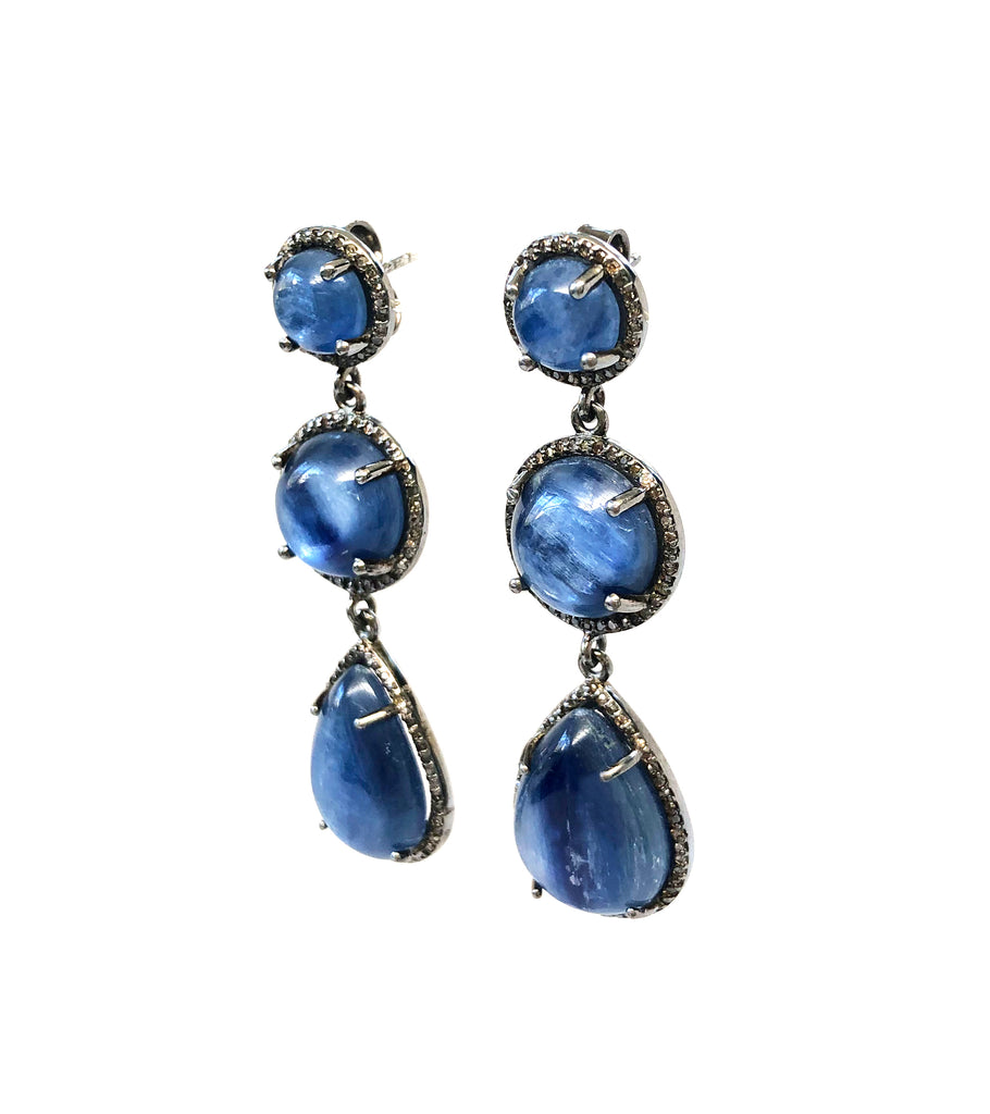 Kyanite & Diamond Earrings