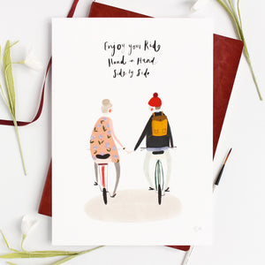 Bicycle Typography Illustration Art Print