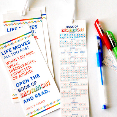 LDS Seminary Book of Mormon Bookmarks