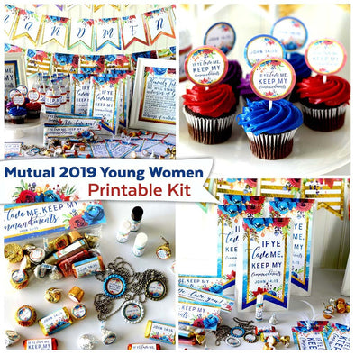 Mutual 2019 Young Women Printable Party Kit | Instant Digital Download
