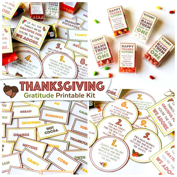 Thanksgiving Gratitude Printable Kit | Thanksgiving Games | Instant Download