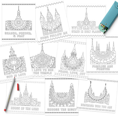 Temple Coloring Pages | Latter-day Saint Temple Coloring Pages