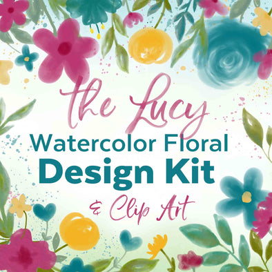 Watercolor Floral Design Clip Art Kit | Watercolor Flower Clip Art | Watercolor Invitations Backgrounds | Free Commercial Use Clip Art