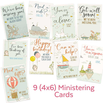 Latter-day Saint Ministering Cards for Primary, Relief Society, & Young Women | LDS Come Follow Me Ministering Printables