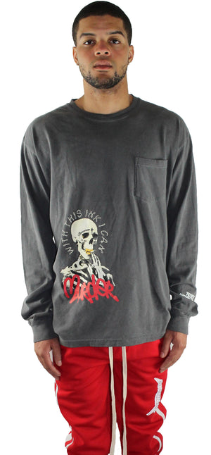 BLACK 'PATIENCE' LONG SLEEVE T SHIRT