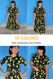 The Elena Dress PDF sewing pattern
