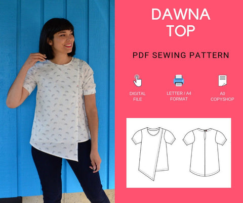 Dawna Top PDF sewing pattern