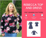 Rebecca Top and Dress PDF sewing pattern and tutorial for wome