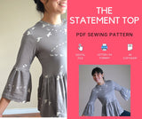 The Statement Top PDF sewing pattern
