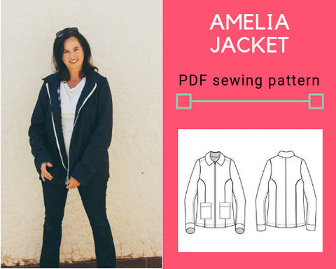Amelia Jacket PDF sewing pattern
