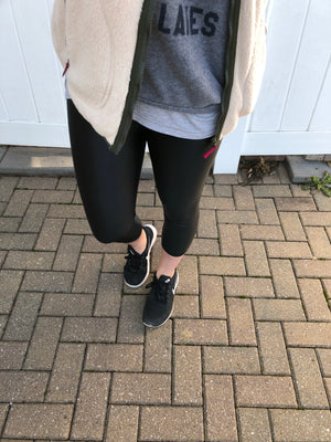 Cropped Athletic Liquid Leggings