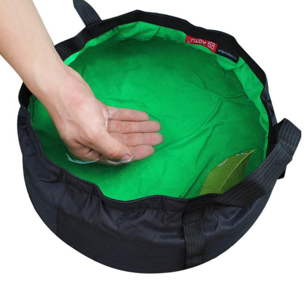 0.5L Portable Collapsible Wash Camping Folding Basin Bucket Camping cookware set Hiking Picnic Cooking Set non-stick Cookware