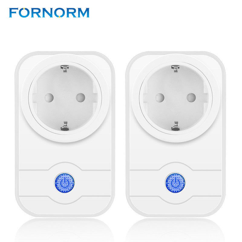 FORNORM Wireless WiFi Smart Socket Intelligent Outlet EU Power Socket Standard Wall Outlet For Android iOS Smartphone SWA1