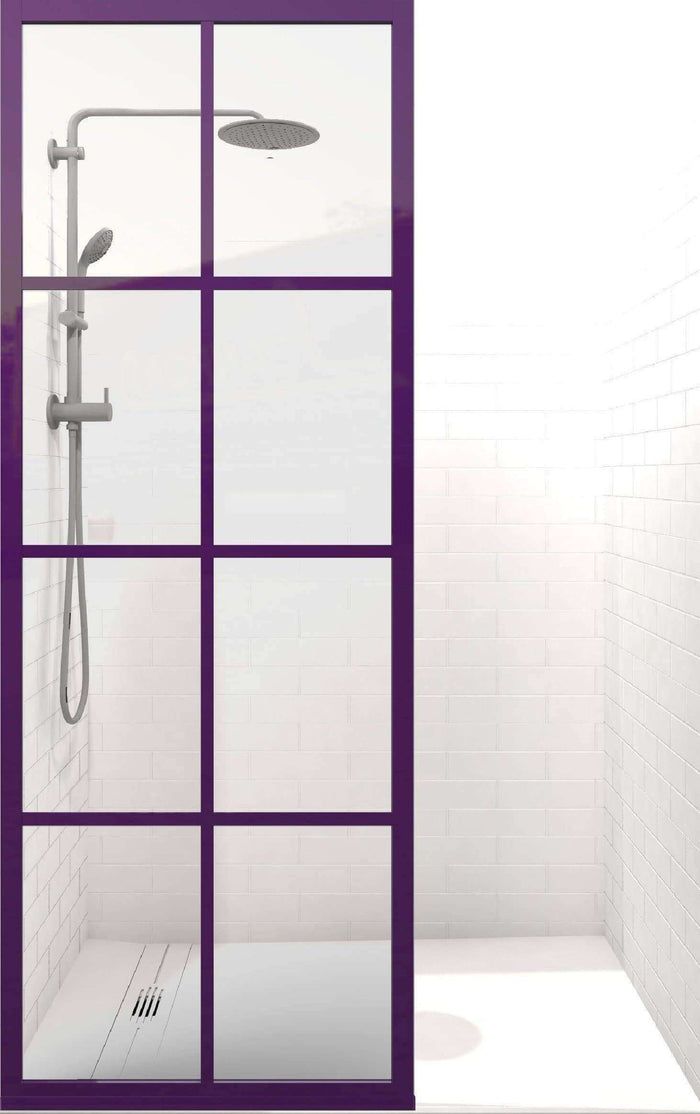 Gridscape GS1 Colorize Shower Screen in Royalty with Clear Glass