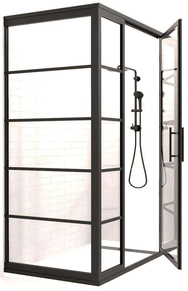 Industrial Corner Shower by Coastal Shower Doors
