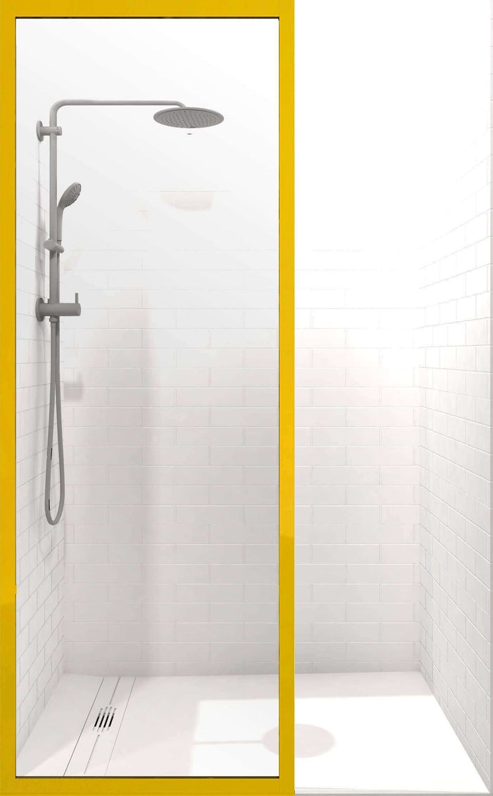 Gridscape GS3 Colorize Shower Screen in Citrine with Clear Glass