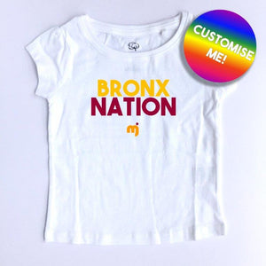 Bronx Nation - Personalised girl's tee