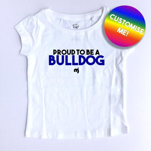 Proud to be a Bulldog - Personalised girl's tee
