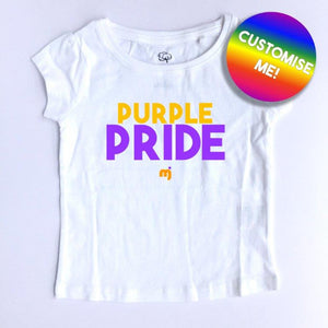 Purple pride - Personalised girl's tee