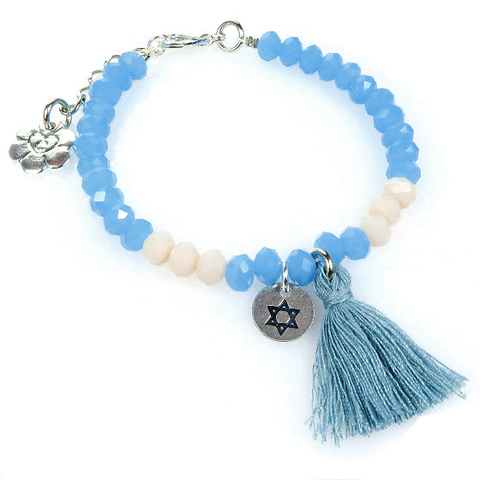 Bracelet - Light Blue/Gray Star of David