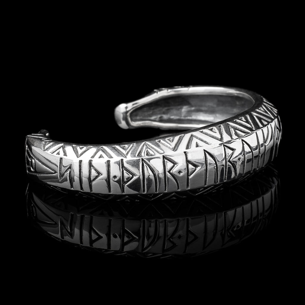 Large Thor Armring With Runes
