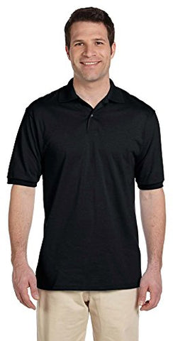 Jerzees Men's 5.6 oz., 50/50 Jersey Polo with SpotShield, Medium, BLACK