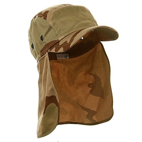 Wholesale Camouflage Twill Cap With Flap (Desert) - 21936