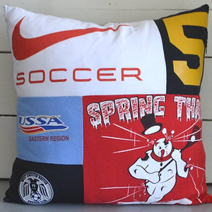 Memory Pillow made from t-shirts by Once Upon a Time Creation