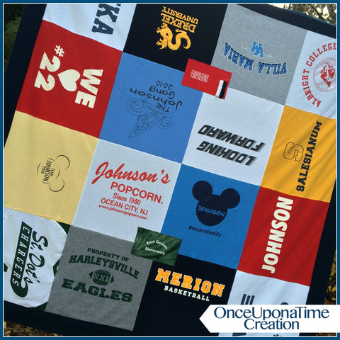 Memory Blanket from t-shirts and other clothing by Once Upon a Time Creation