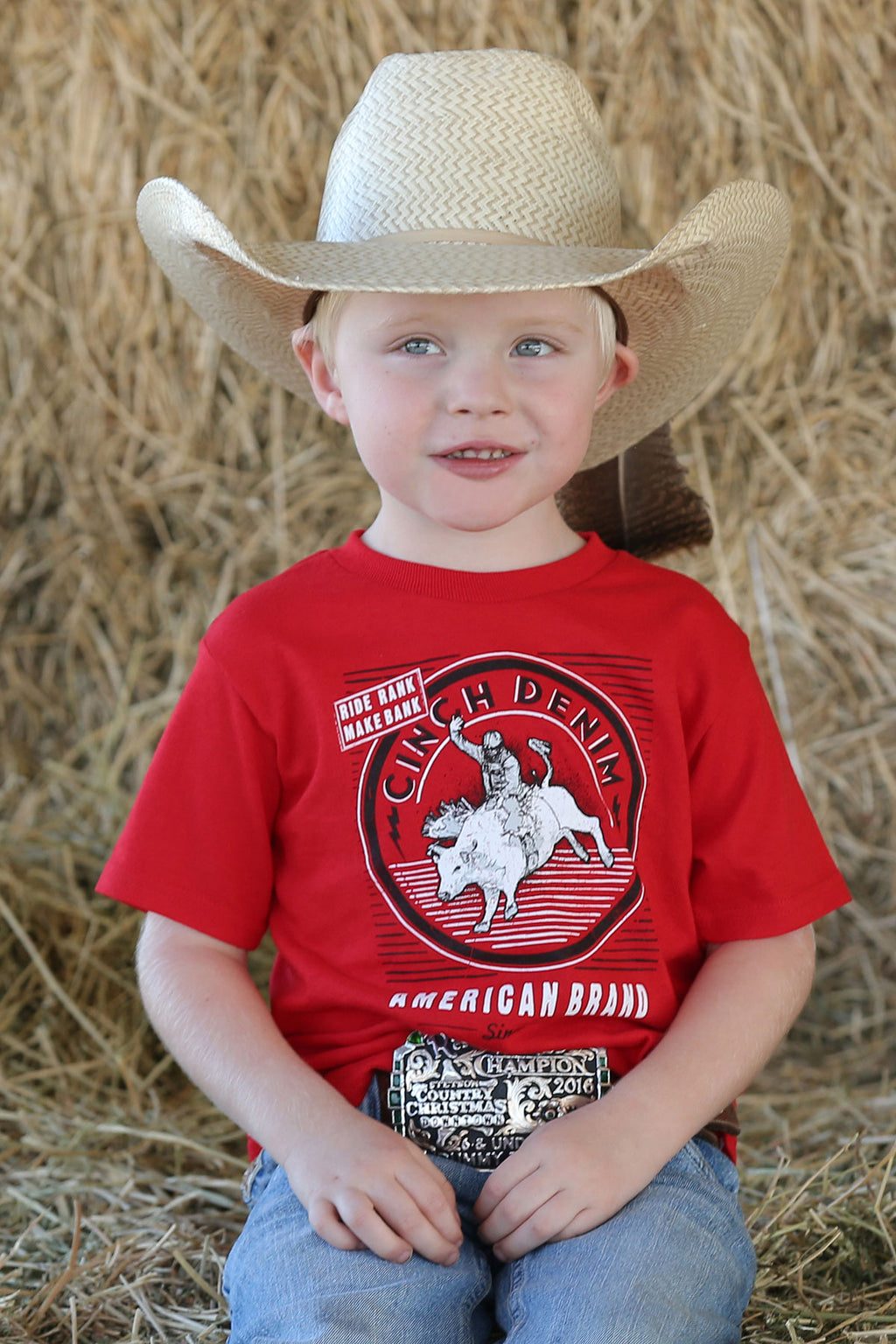 Boy's Cinch Red tee