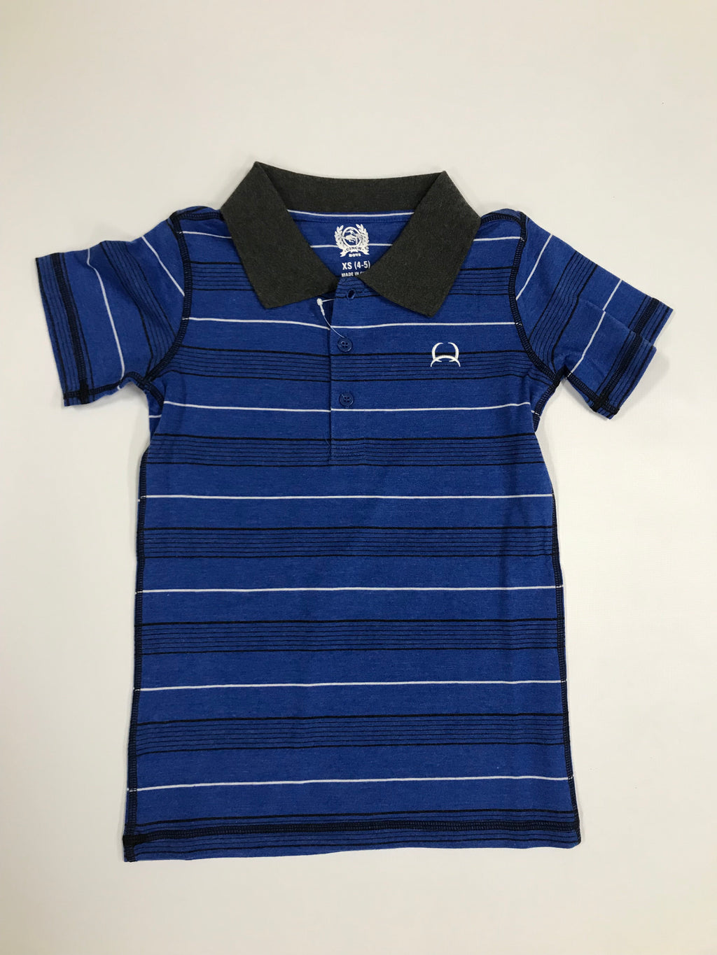 Cinch Boys Blue w/ Gray Collar Polo