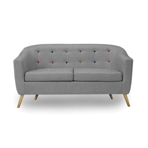 Hudson Grey Sofa with Buttons - directhomeliving