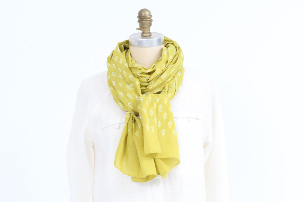 Scarf -  Lime - Cotton