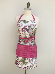 New - Perfect Apron - White Floral