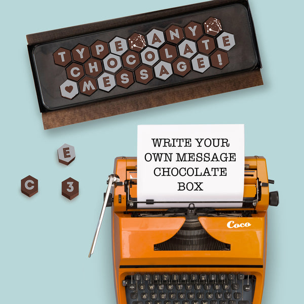 Chocolate Typewriter Message Box