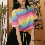 CROP TOP PASTEL RAINBOW