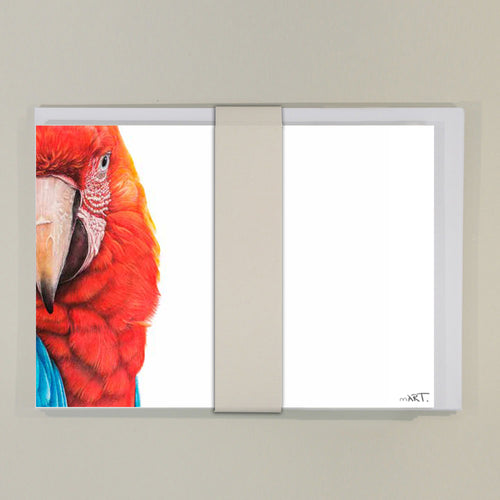 Notecard (8 x Macaw) - Martin Aveling