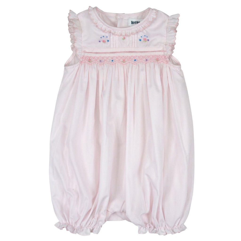C8004 Summer Class Smocked Romper-All In Ones-Korango