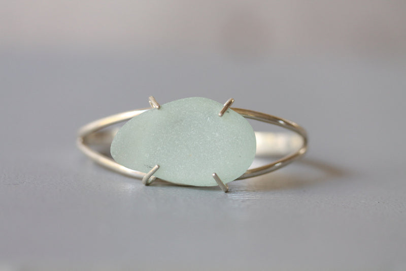 Sea Glass Clutch Cuff - Seafoam - TheRubbishRevival