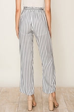 HIGH WAIST STRIPED ANKLE PANT