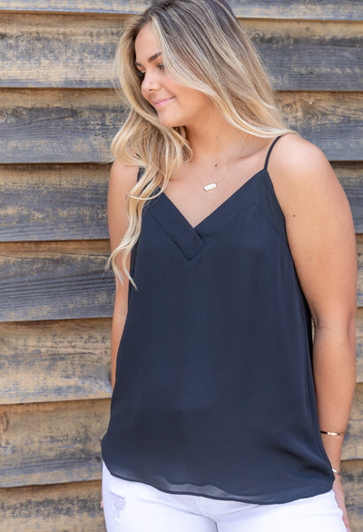 V-NECK THICK BAND CAMI