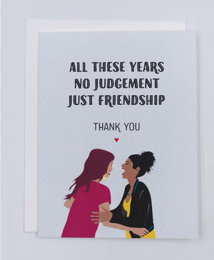 Friendship Thank you Greeting Cards (Pack)