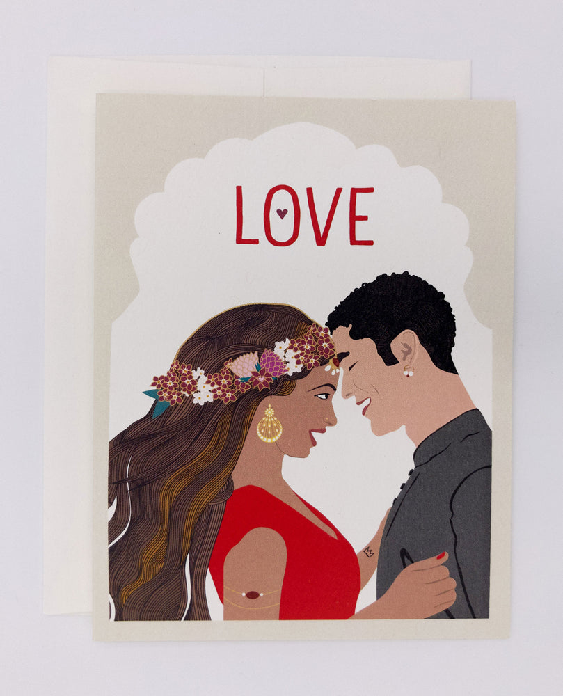 Love Greeting Card, Red (Single)