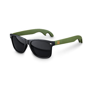 Black & Green Bottle Opener Sunglasses by Foster & Rye