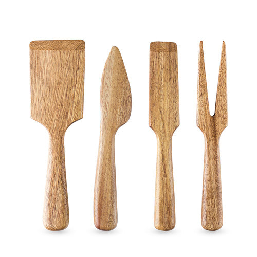 Acacia Wood Cheese Knife Set