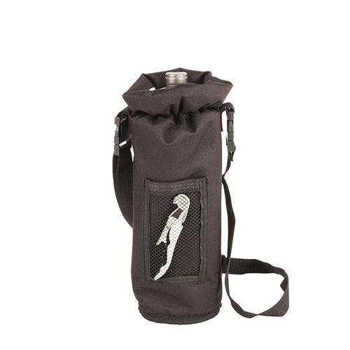 Grab & Go Insulated Bottle Carrier: Black