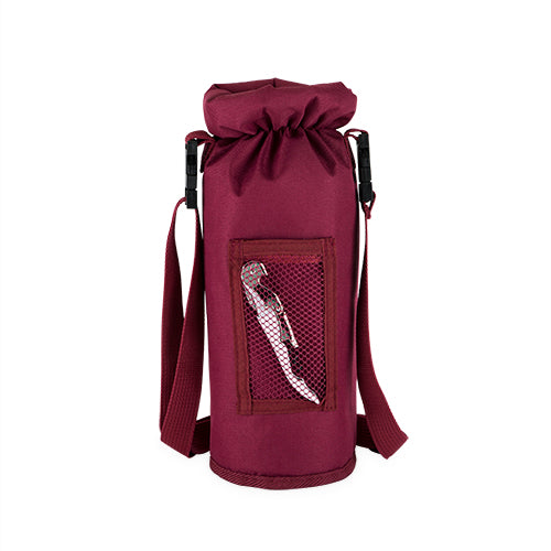 Grab & Go Insulated Bottle Carrier: Burgundy