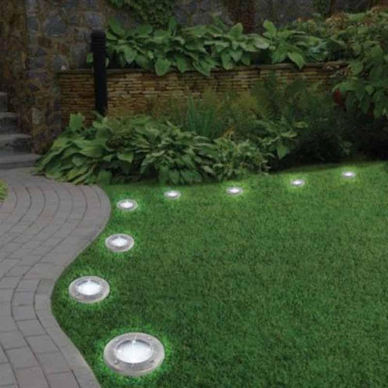 Waterproof Solar Powered LED Disk Lights