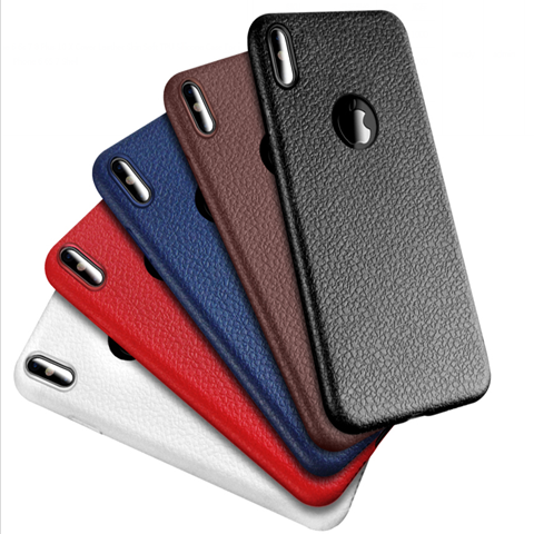 Leather Skin Soft TPU Silicone Ultra Thin Phone Cases For iPhone 6 6s 7 8 Plus 10 X